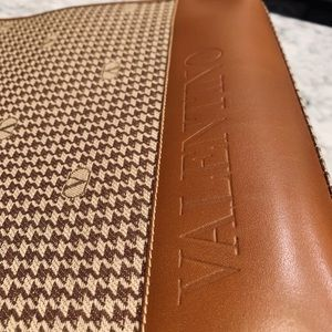 Valentino British Tan Leather Bag Purse